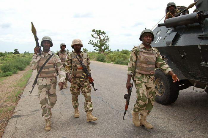Nigerian army-on-street