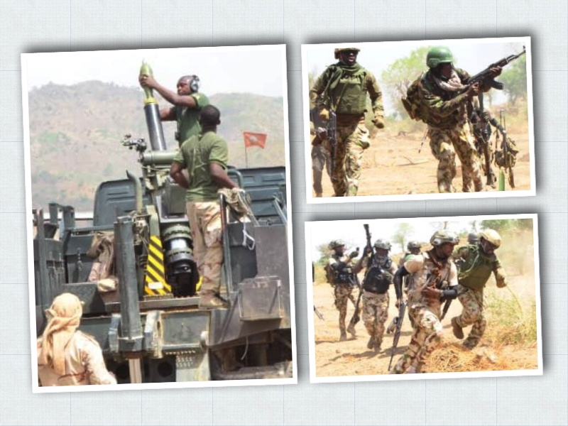 Troops of Nigerian Army mount offensives against terrorists in Gwoza