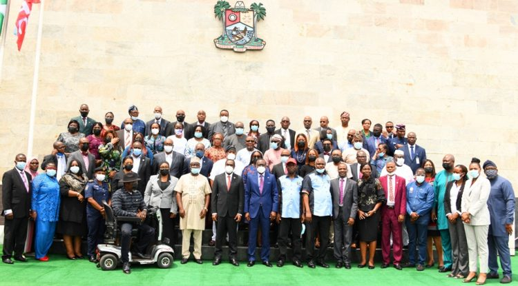 Sanwo-Olu with heads of government Parastatals in Lagos