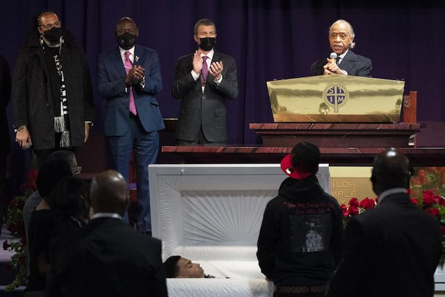 Rev Al Sharpton delivers funeral oration for Daunte Wright