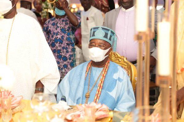 Oba Gbadebo at the wedding of Oba Malaolu and Feyisetan Sogbesan