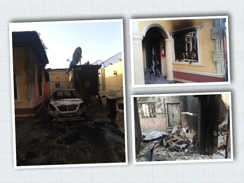 the havoc done by Boko Haram in Damasak. Photos by Norwegian Refugee Council