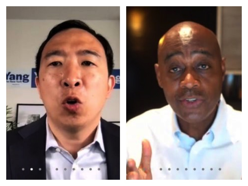 Andrew Yang, Mcguire New York mayoral candidates woo Nigerians