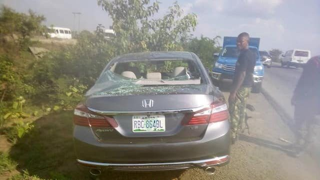 Honda Accord recovered on Kaduna-Abuja road: the occupants yet to be accounted for