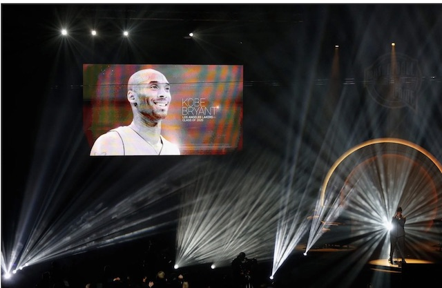 Kobe Bryant alive at Hall of Fame induction