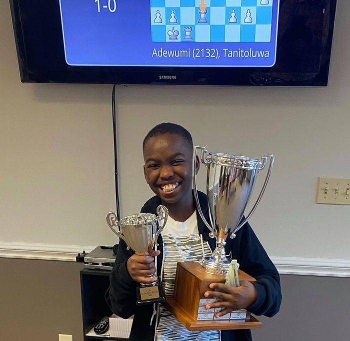 Tani Adewumi becomes U.S. National chessmaster. Photo Nicholas Kristof