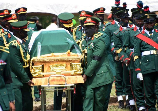 Pall bearers for late Lt. General Ibrahim Attahiru: the final farewll