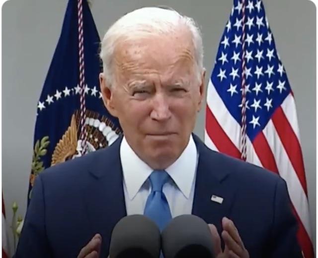 U.S. President Biden sheds his face mask