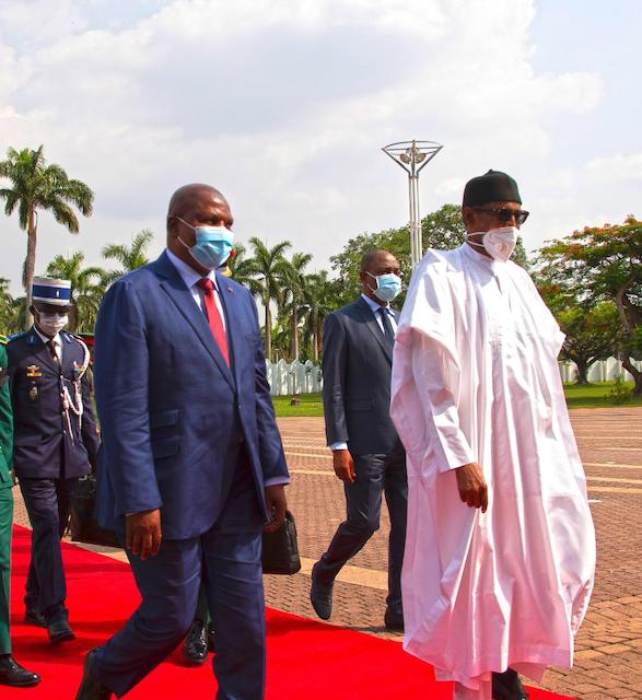Welcome to Nigeria: Buhari leads President of Central African Republic (CAR) H.E Prof Faustine Archange Touadera