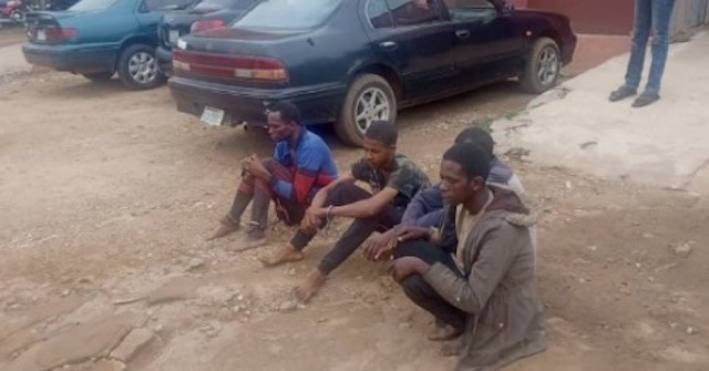 the 4 kidnappers arrested by Ondo Amotekun