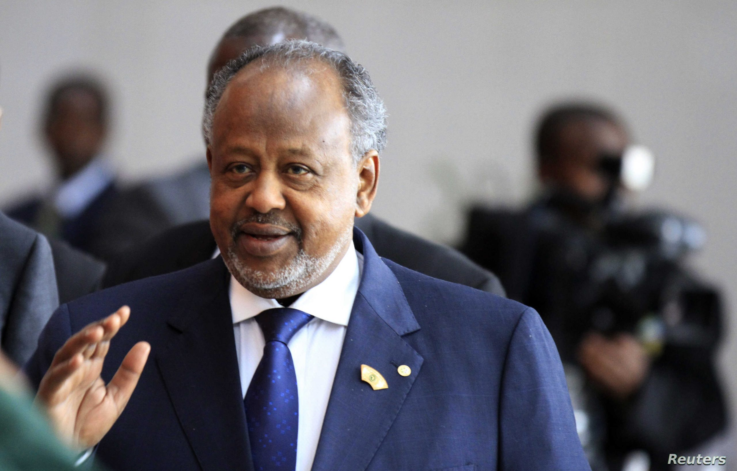 Djibouti's President Guelleh arrives for a meeting in Addis Ababa