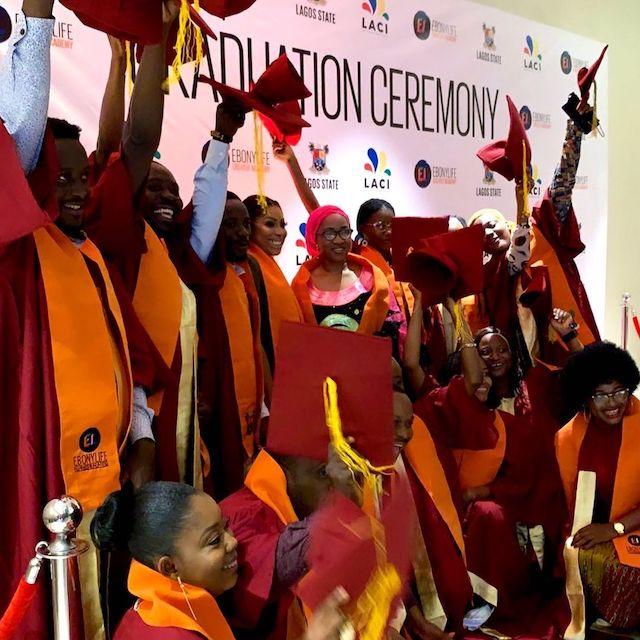 Ebony Life Creative Academy graduates with CEO Mo Abudu