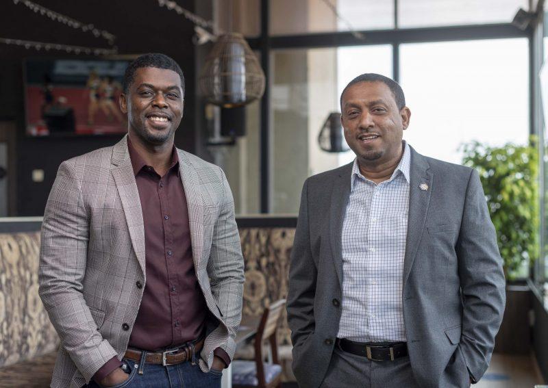 Gebeya Team – Amadou Daffe CEO and Co-founder (l) and Leul Girma Chief O…