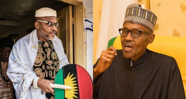 Buhari and Nnamdi Kanu
