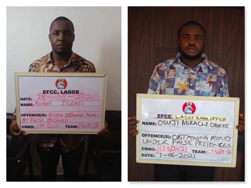 Konne Israel Barieeba and Osuji Miracle Obieze arrested for  419 fraud