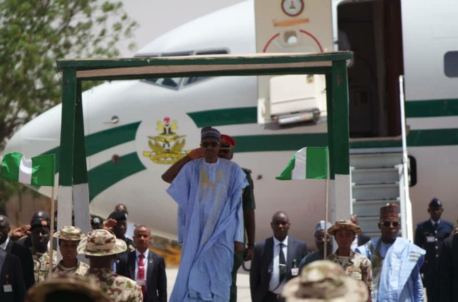 President-Buhari-arrives-Maiduguri-on-Thursday-for-one-day-official-visit