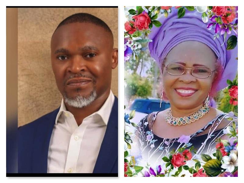 Usifo ataga and his mum Sylvia Ataga