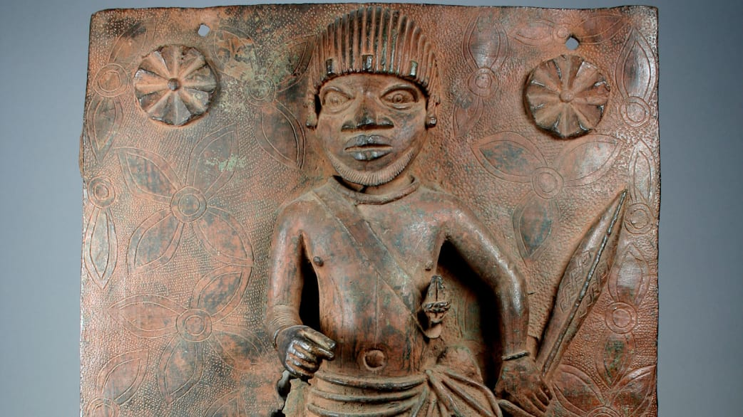 one of the artefacts looted from the Oba of Benin palace in 1897to be sent back to Nigeria