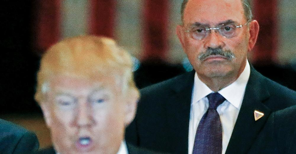 Allen Weisselberg, right, CFO of Trump Organisation charged with tax fraud