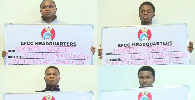 Four suspected Internet fraudsters busted in Abuja