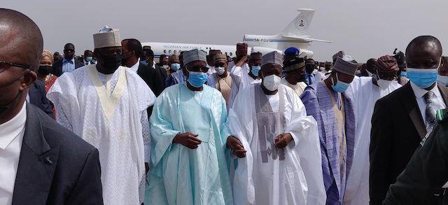 Ganduje, middle welcomes Prof. Gambari, CoS to President Buhari to Kano