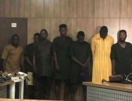 The men arrested in Sunday Igboho's home in Ibadan