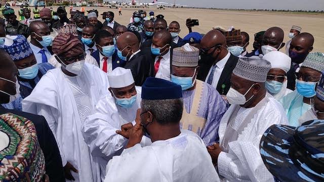 VP Osinbajo with Aminu Tambuwal and Sanwo-Olu