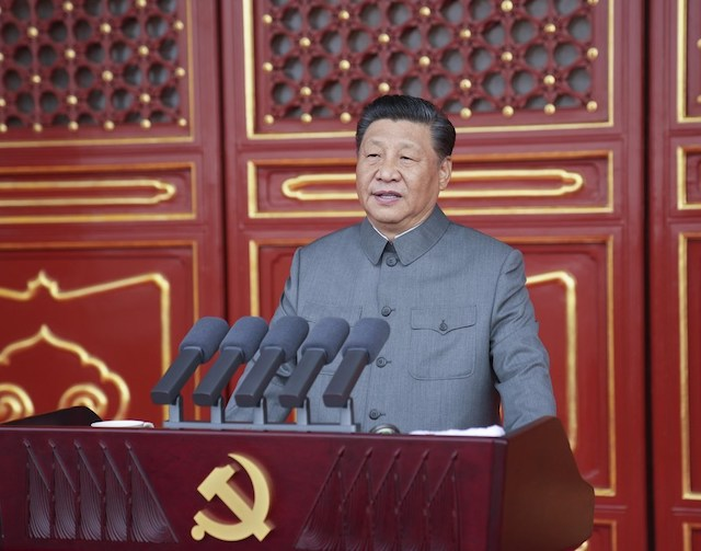 Xi Jinping at the centenary of CPC in Beijing