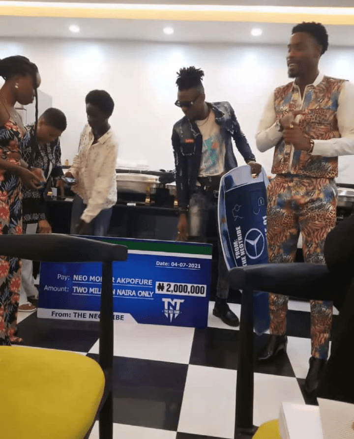 BBNaija's Neo gets Mercedes Benz and N2m from fans