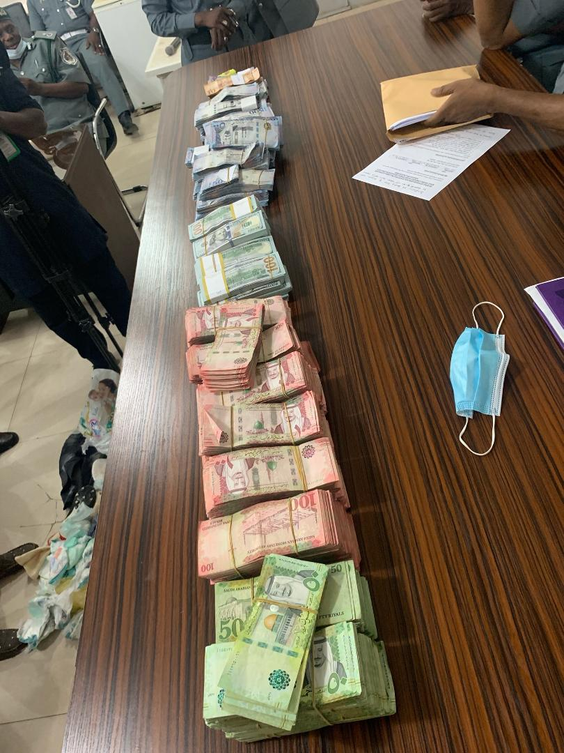 part of the money seized from Sabo Suleiman