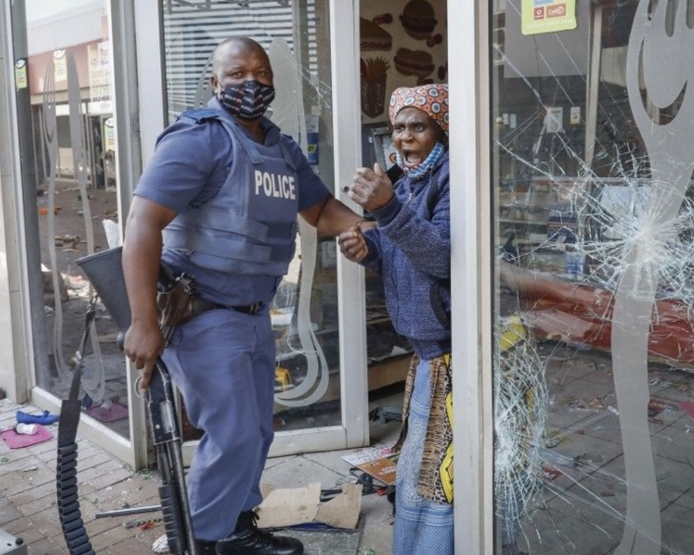South Africa policeman arrests yet another woman