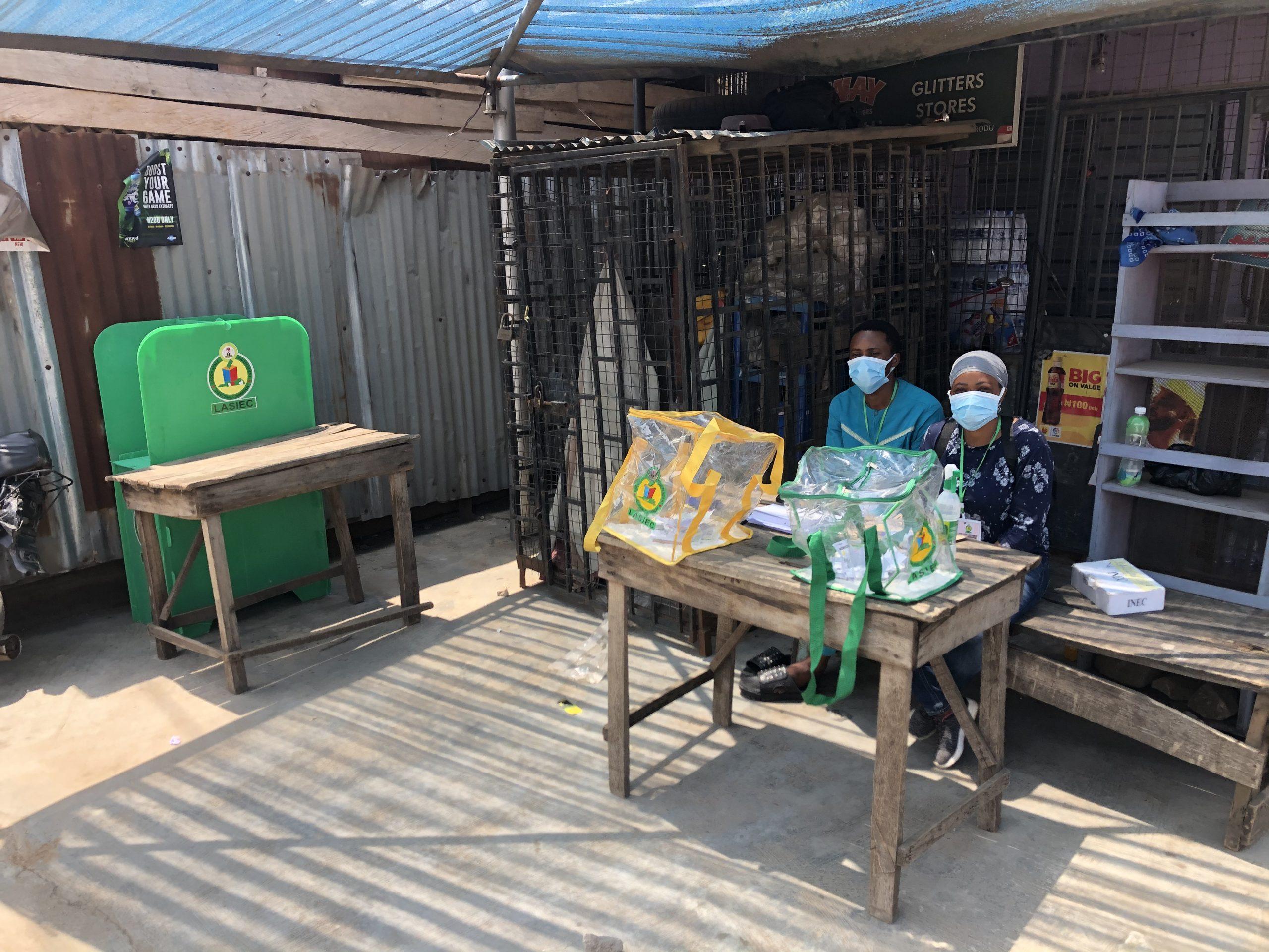 Polling Unit opposite Ayangburen Palace in Ikorodu