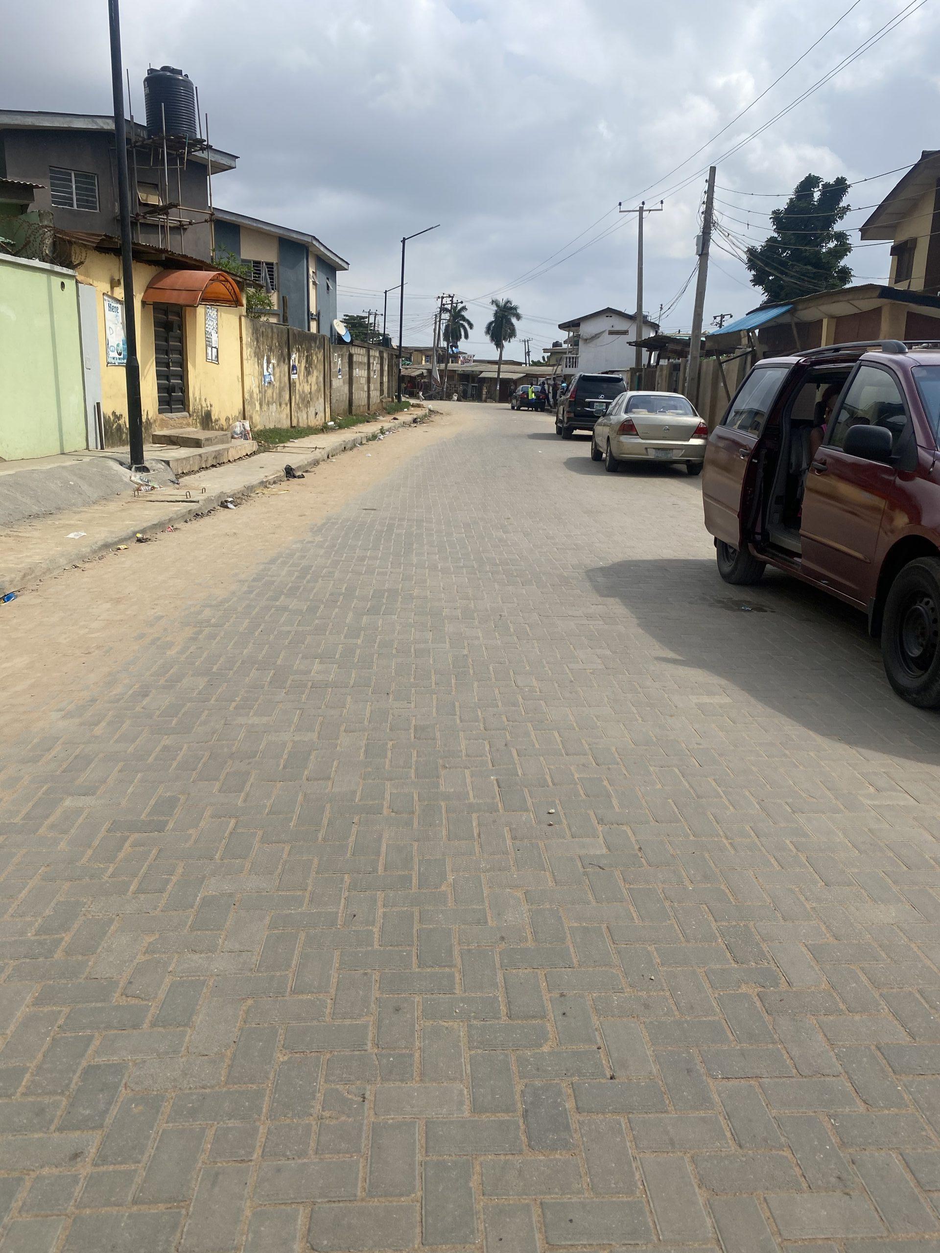 Deserted street at Along Ifesowapo, Ojodu LCDA
