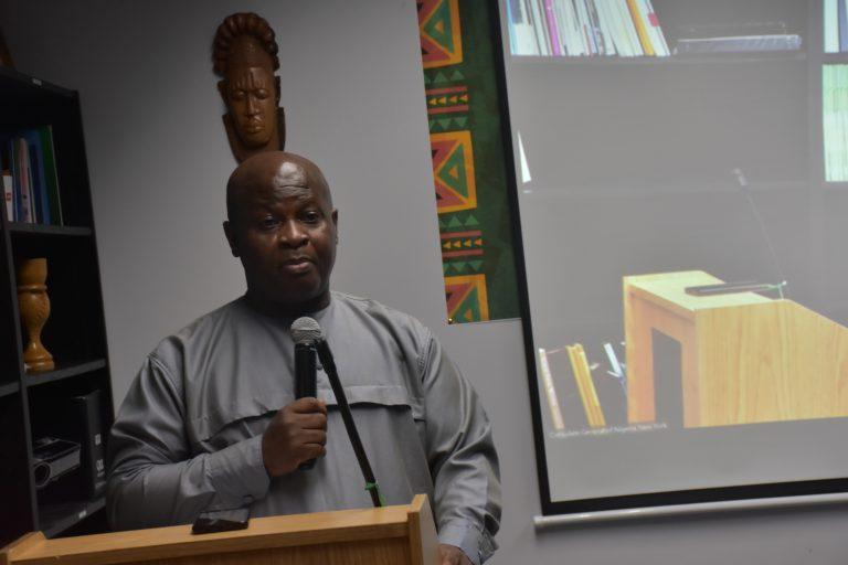 Consul-General of Nigeria in New York, Amb. Lot Egopija at the Inaugural Nigeria Cultural Show