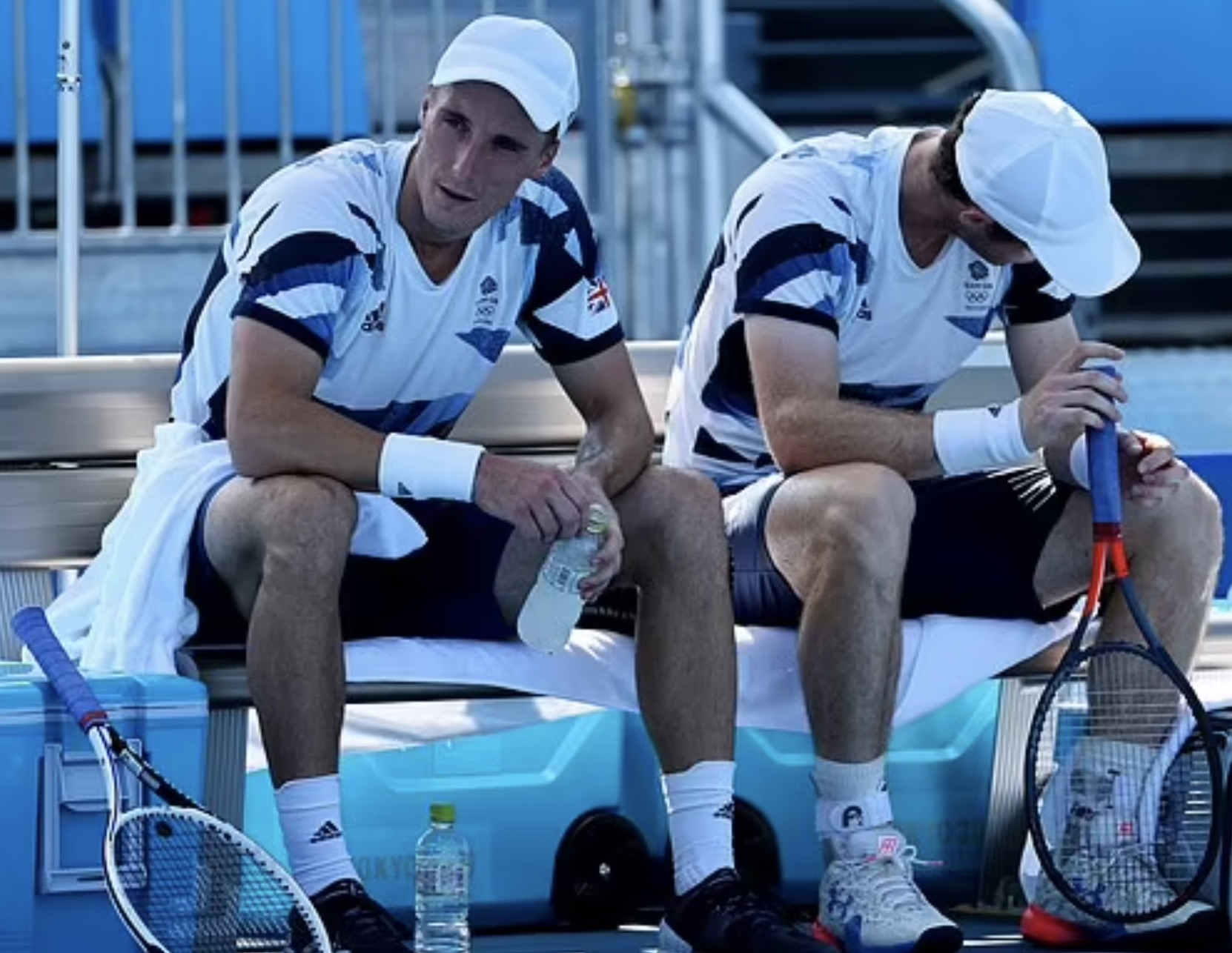 Andy Murray, right, and doubles partner Joe Salisbury lose in Tokyo