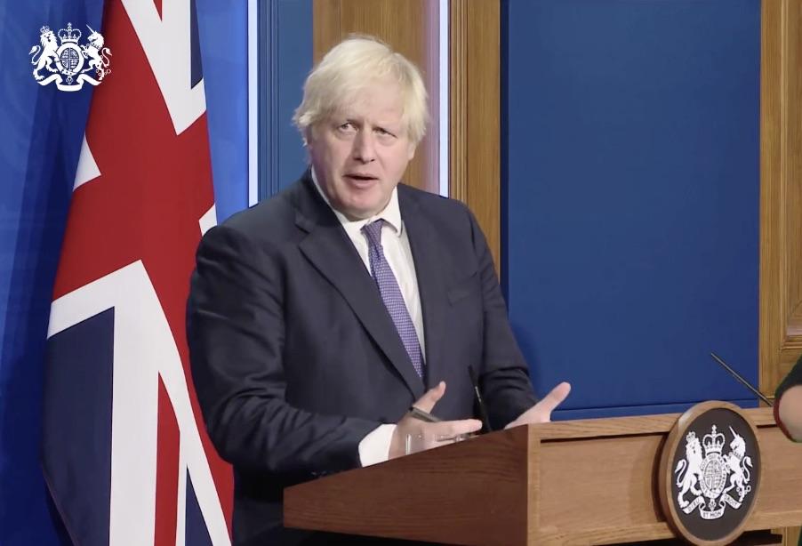 Boris Johnson on Monday