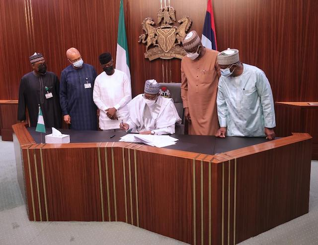 Buhari signs the supplementary budget