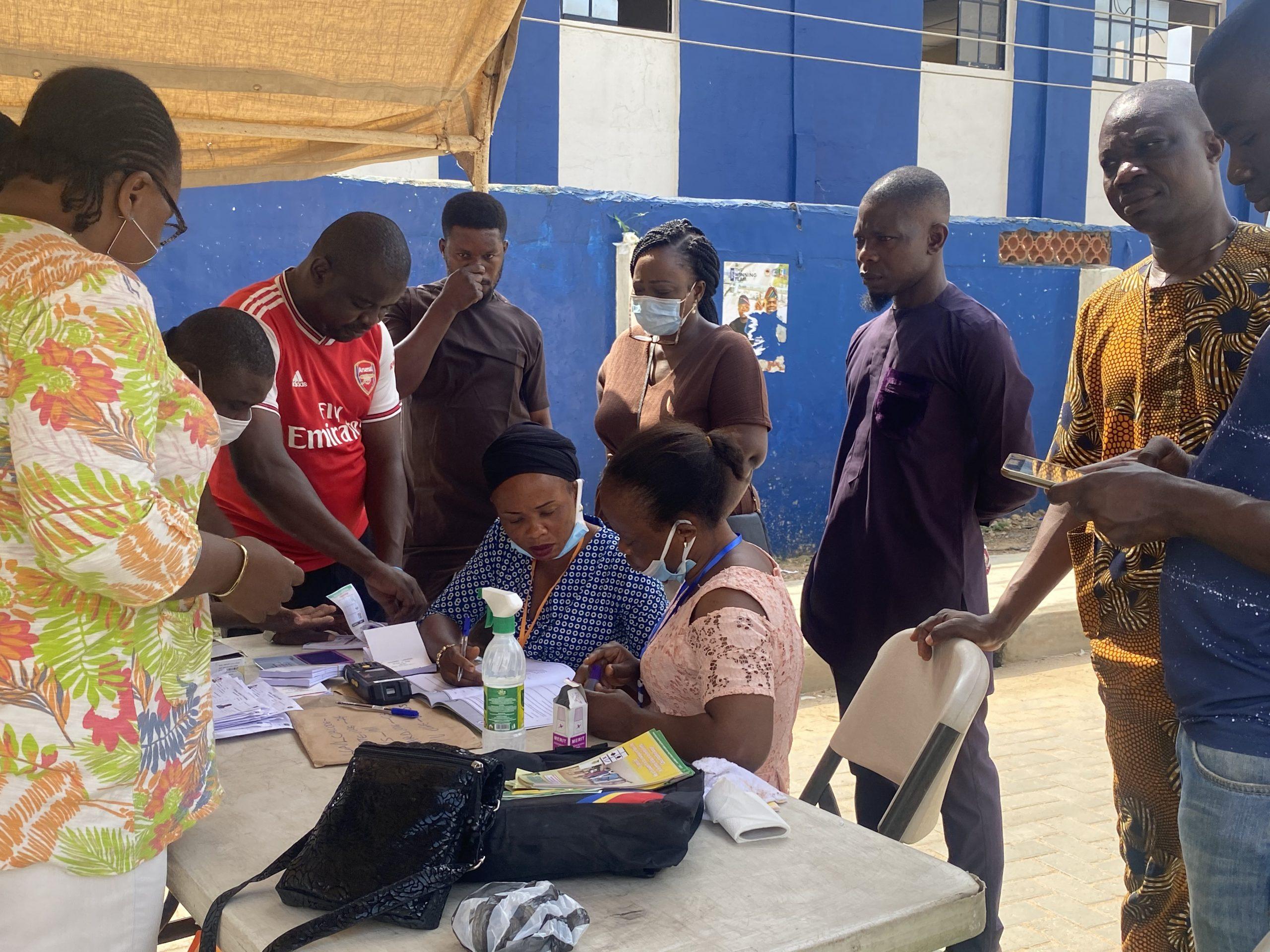 Polling unit 038 Along Ifesowapo, Ojodu LCDA
