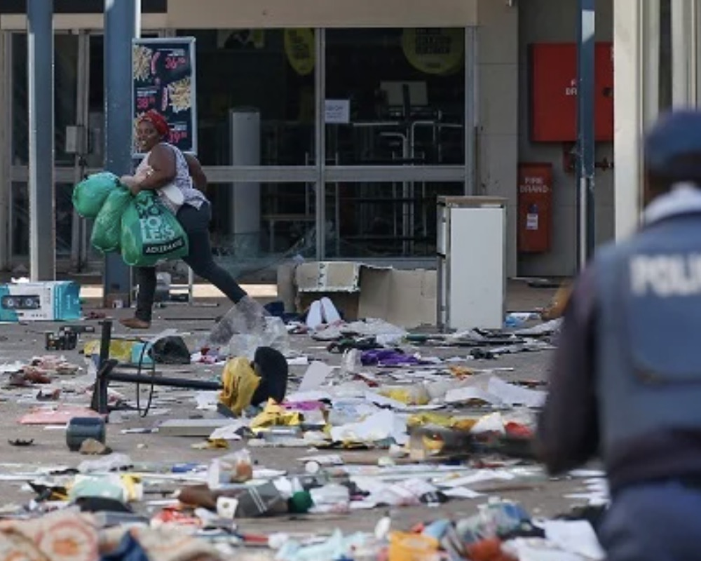 looted South African stores