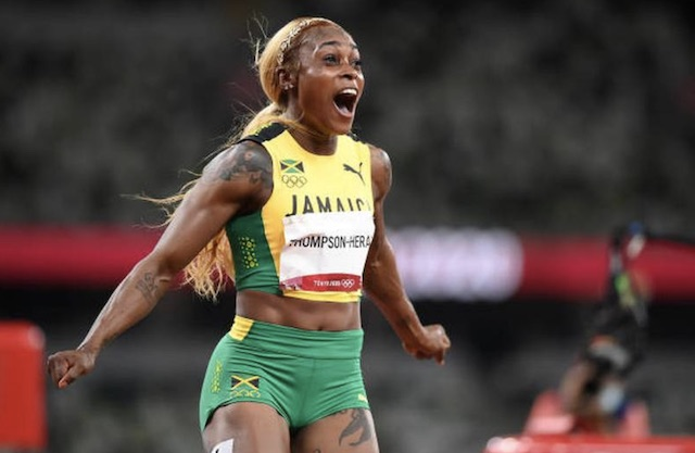 Elaine Thompson-Herah wins Olympic women's 100m race