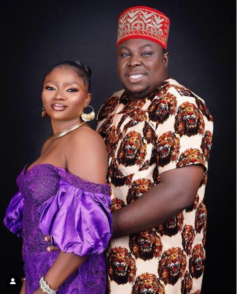 Emeka Okoye and his bride