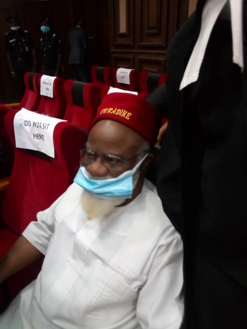 Ex-governor Ezeife in courtroom