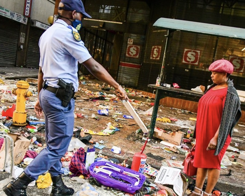 A Zuma looter arrested with stolen items by South Africa police
