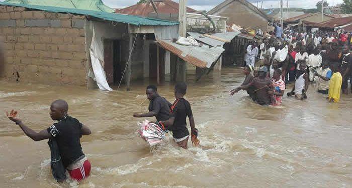 File: Flood in Baure LG of Katsina in 2020