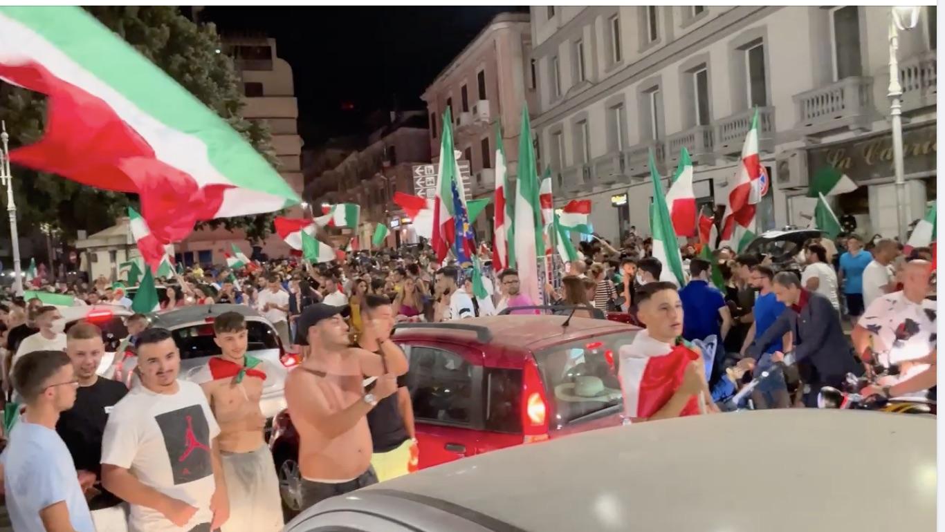 Italians in Crotone celebrate over Euro 2020 victory
