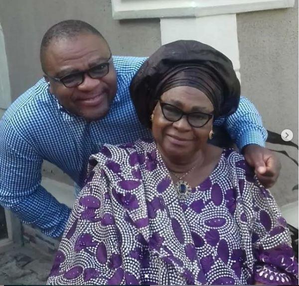 Jide Alabi and mum