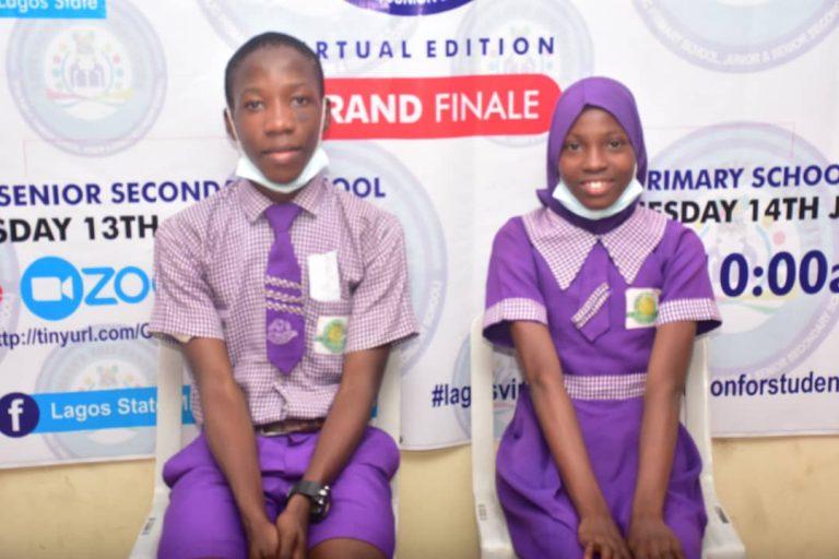 Lalekan Ebere and Olabisi Divine represented Vetland Senior Grammar School, Ifako-Ijaiye