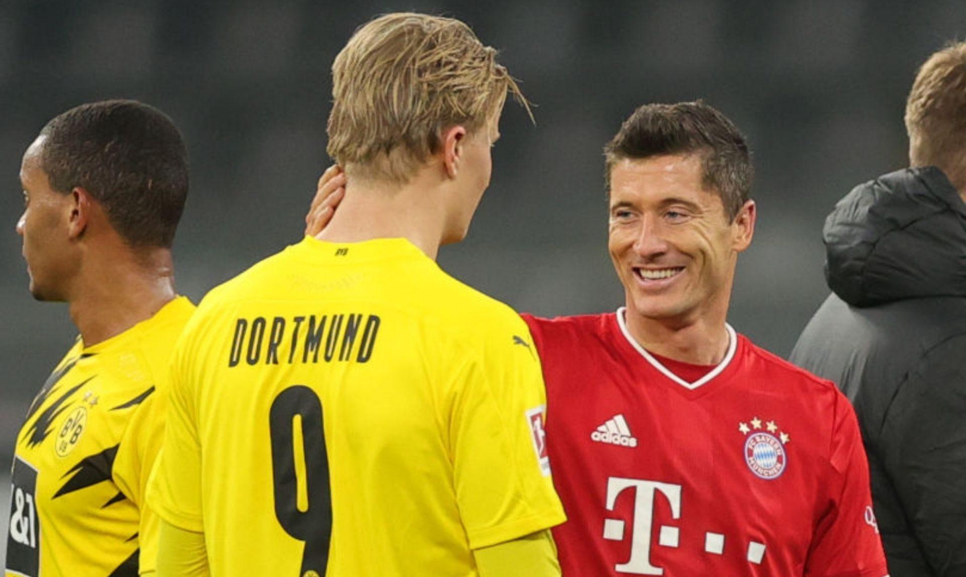 Lewandowski and Haaland