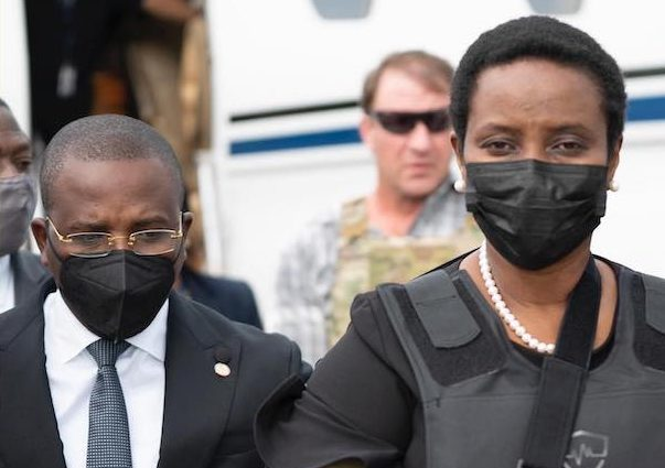 Martine Moise right on arrival in Port-au-Prince