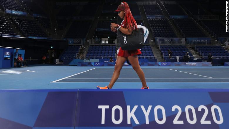 Naomi Osaka knocked out of Tokyo women's singles tennis